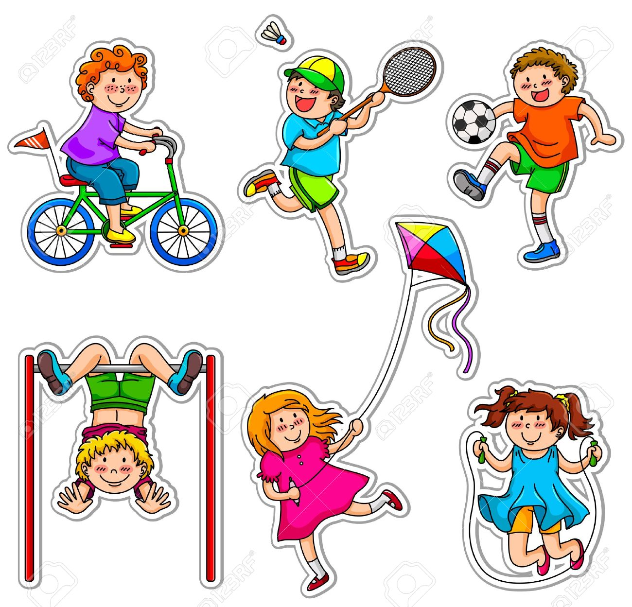 Kids Exercise Clipart