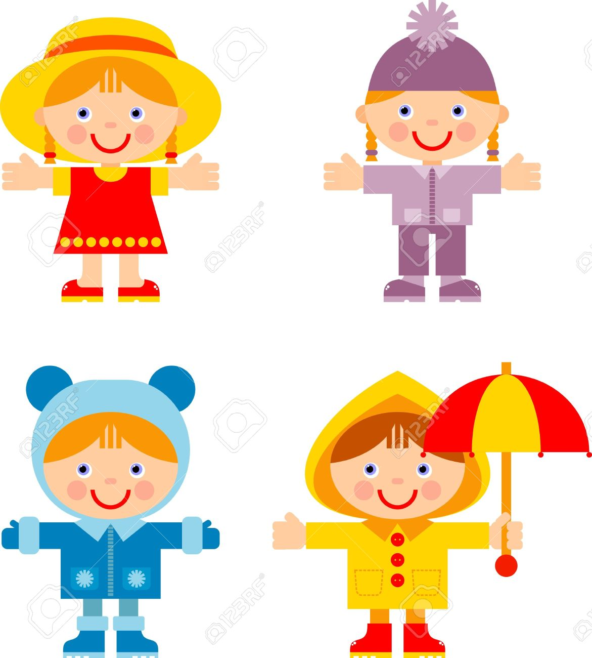 Kids Summer Clothes Clipart