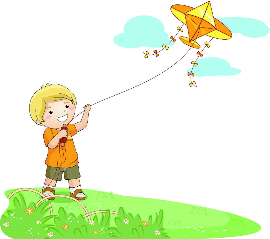 Kite Flying Clipart