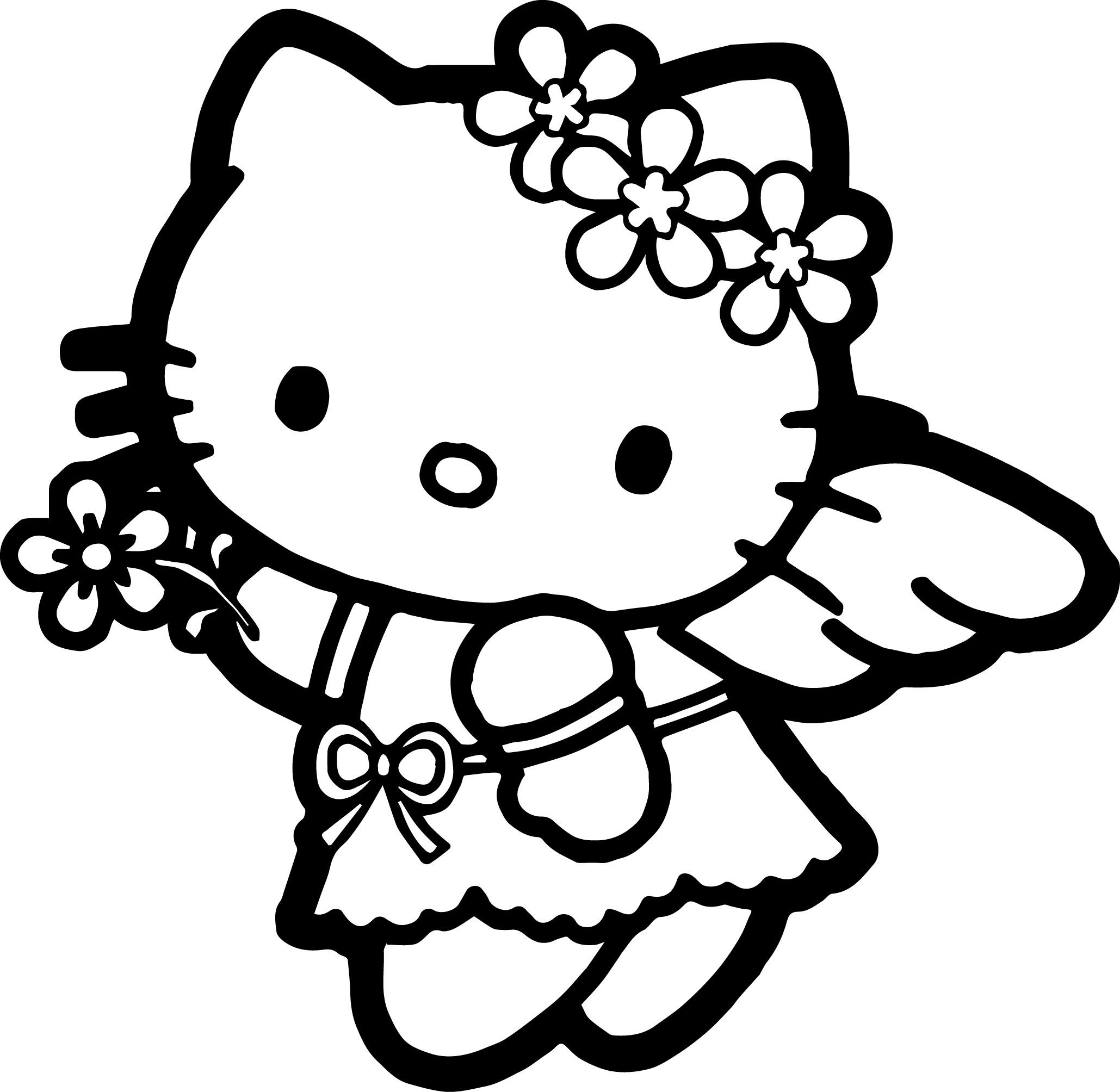 Cute Butterfly Hello Kitty Coloring Pages   Novocom.top