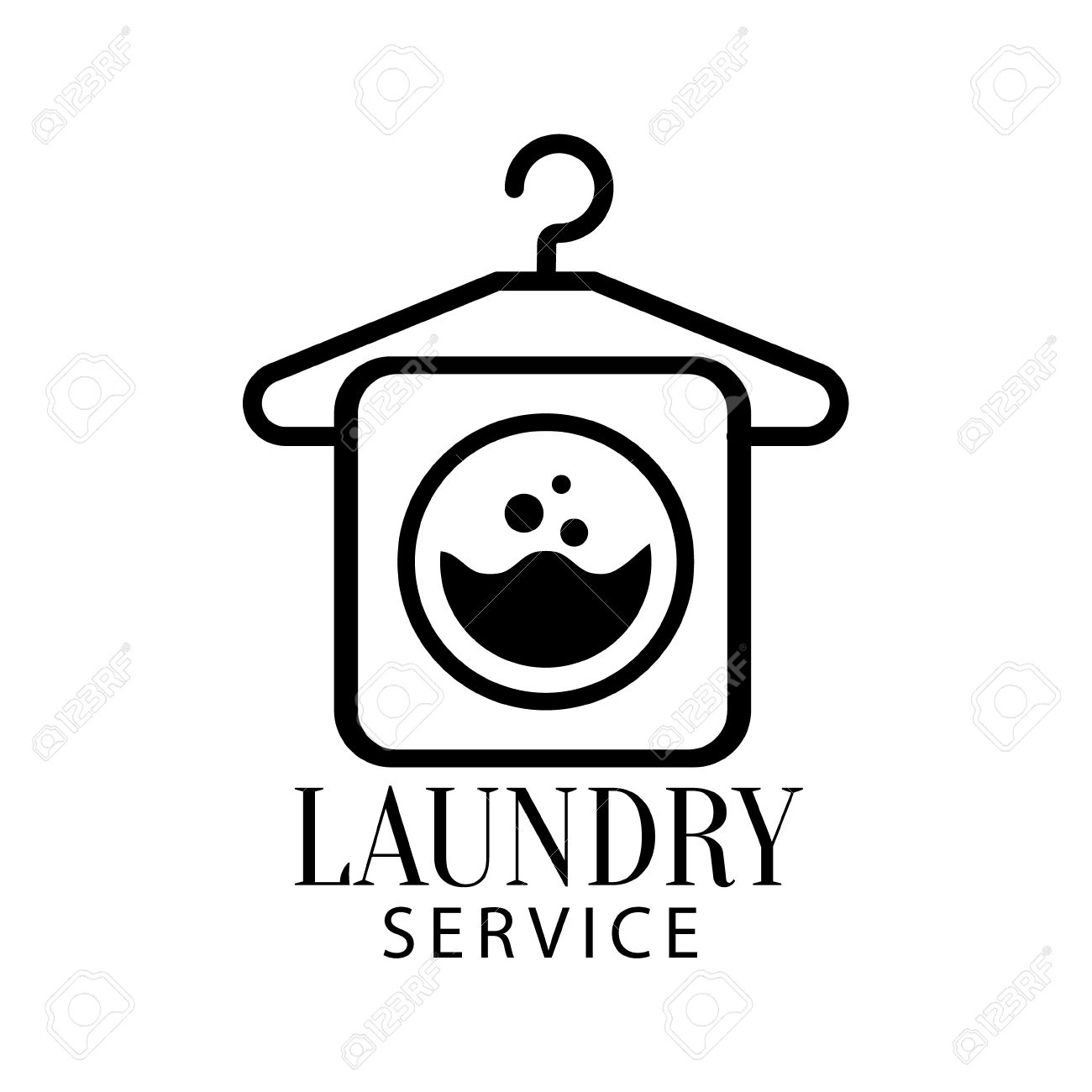 Laundry Clipart Black And White
