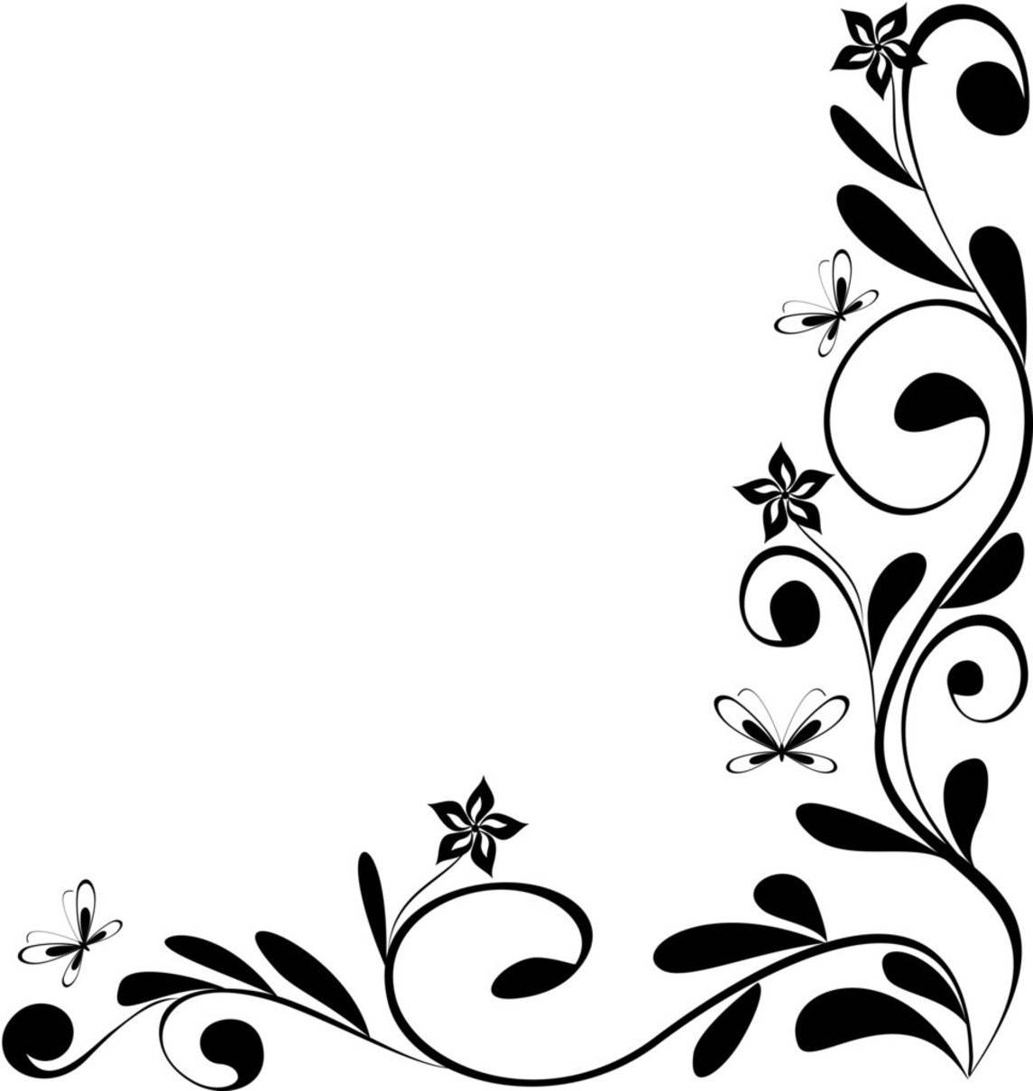Leaf Border Clipart Black And White