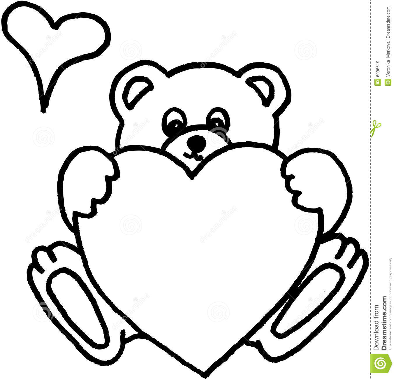 Line Drawing Teddy Bear
