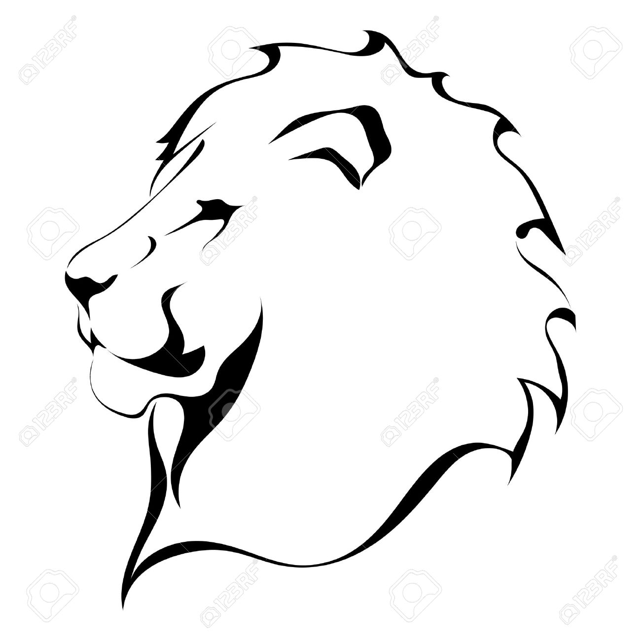 Lion Clipart Outline