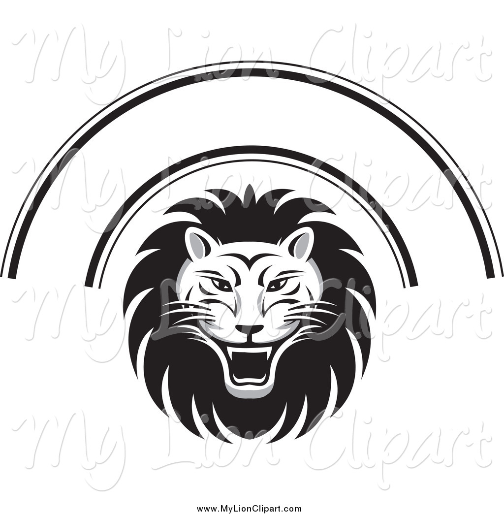 Lion Face Clipart Black And White