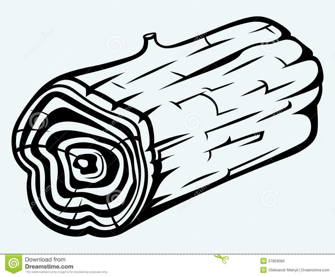Log Clipart Black And White