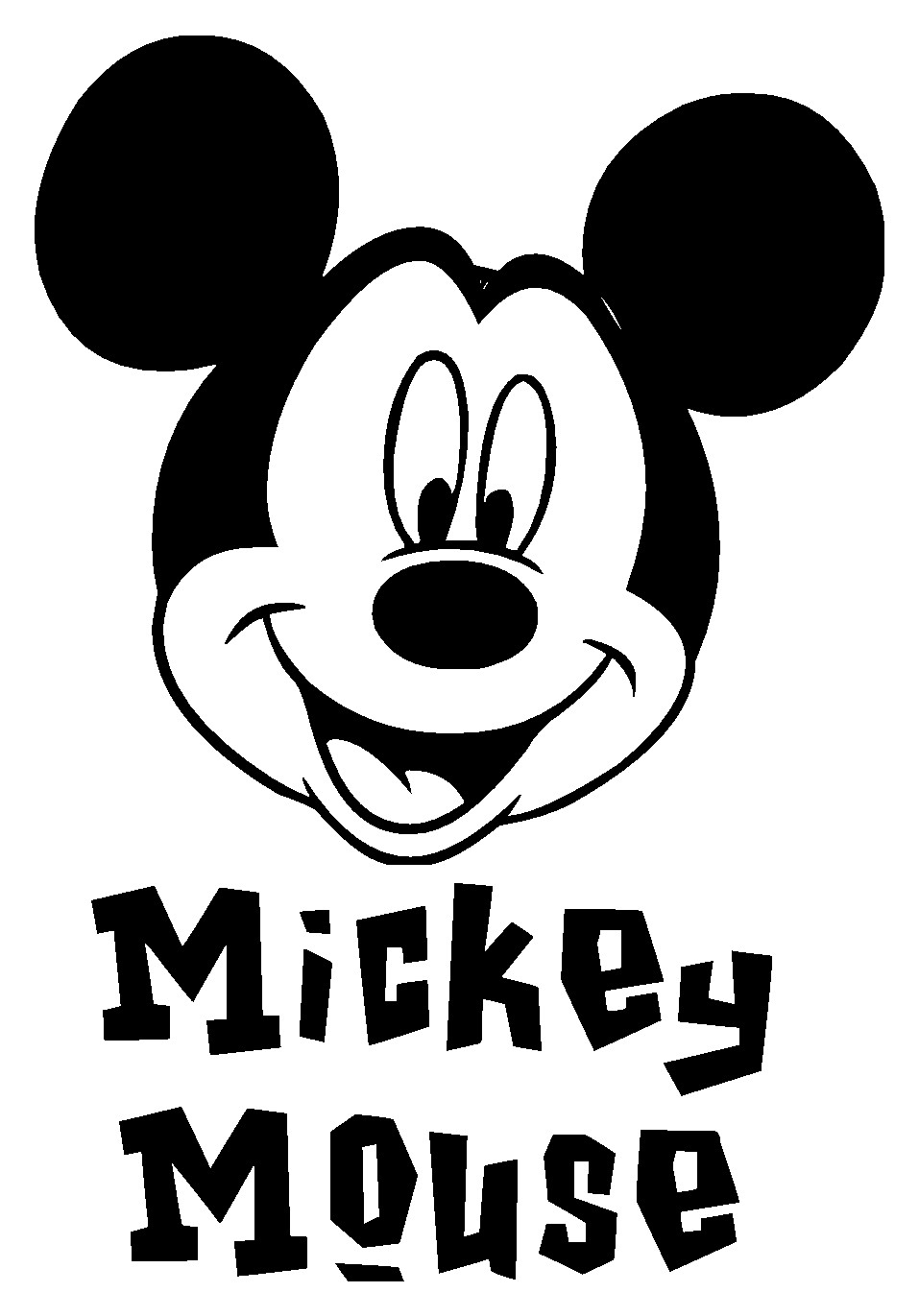 mickey mouse hand template