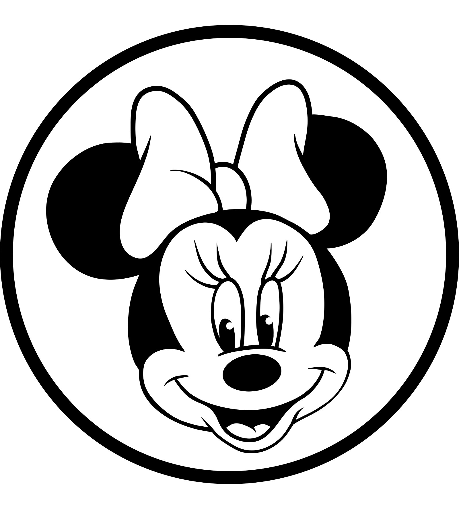 Minnie Mouse Black And White