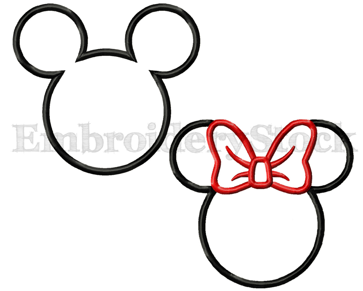 Minnie Mouse Outline