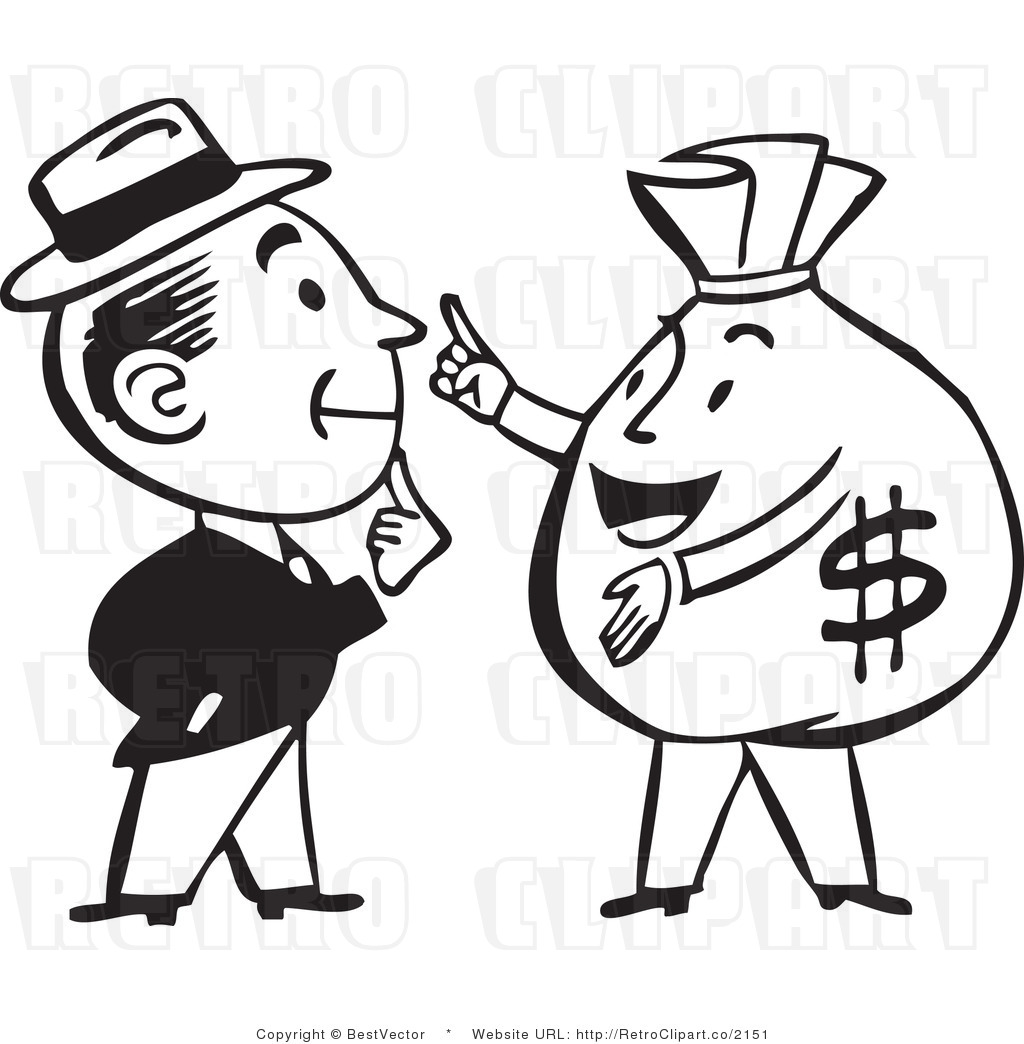 Money Clipart Black And White