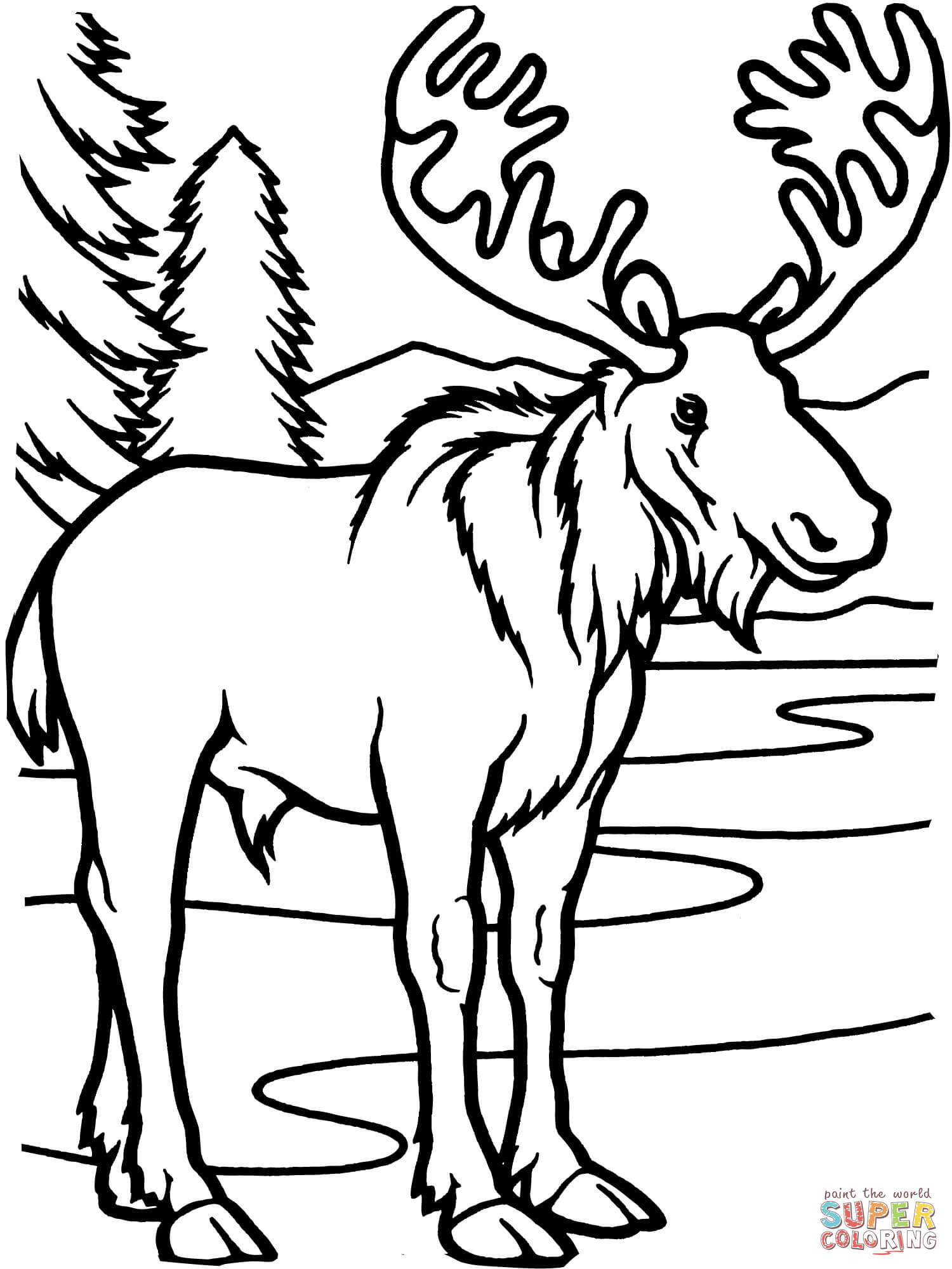 Moose Black And White