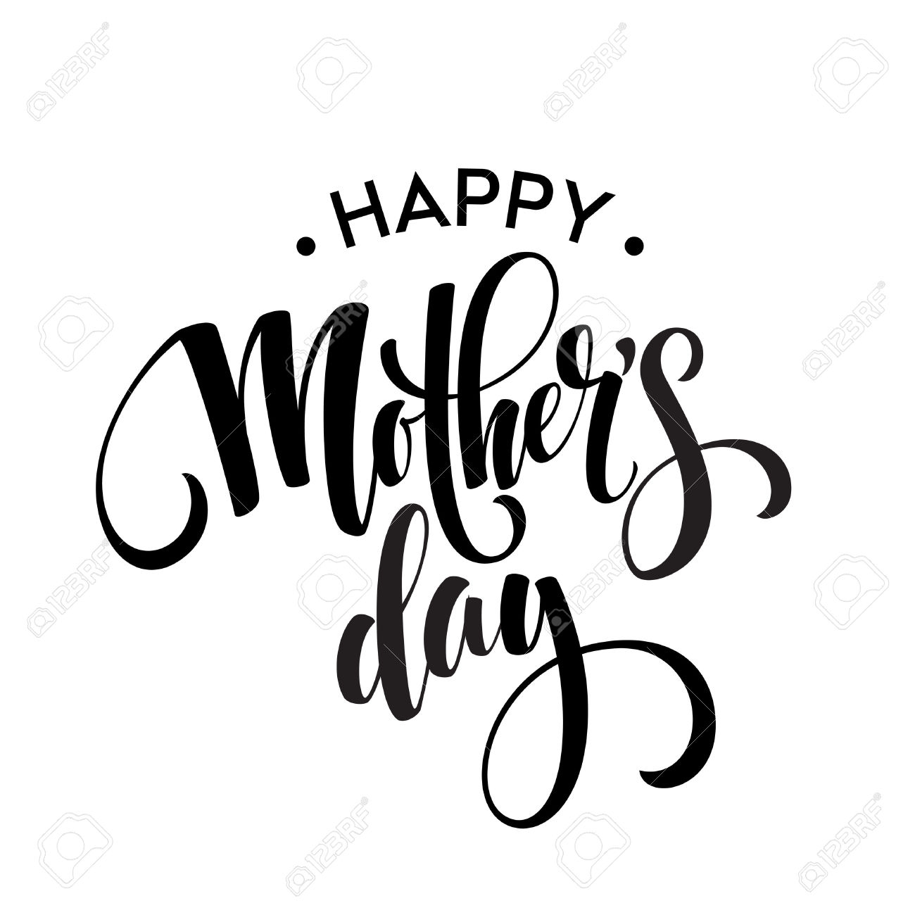 Mothers Day Clipart Black White