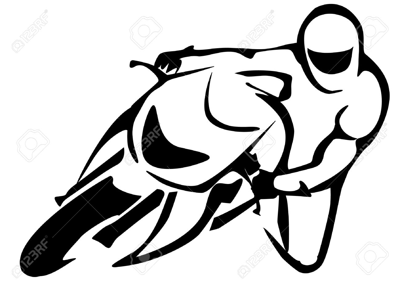 Motorcycle Silhouette Clipart