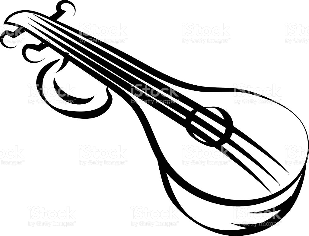 Musical Instruments Clipart Black And White