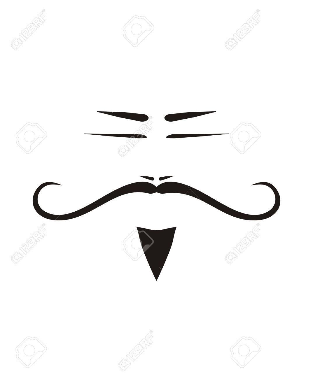 Mustache Silhouette Clipart