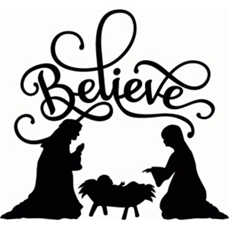 Download Nativity Scene Black And White | Free download on ClipArtMag