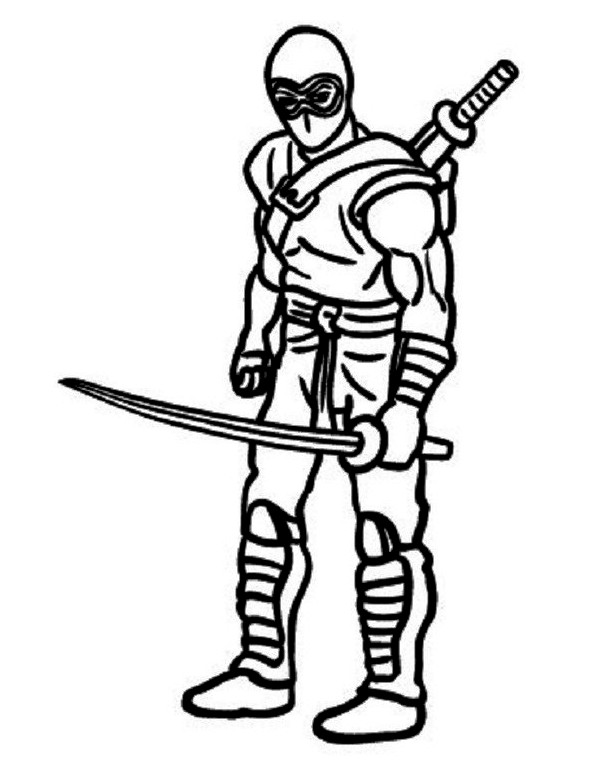 Ninja Coloring Pages Free Download On Clipartmag