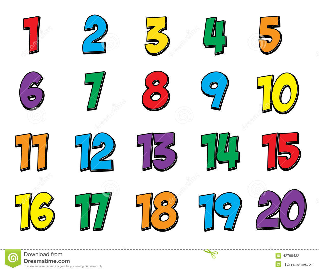 Numbers 1 20 Clipart