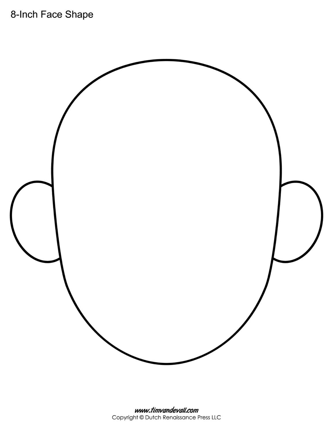 Outline Of Face Template