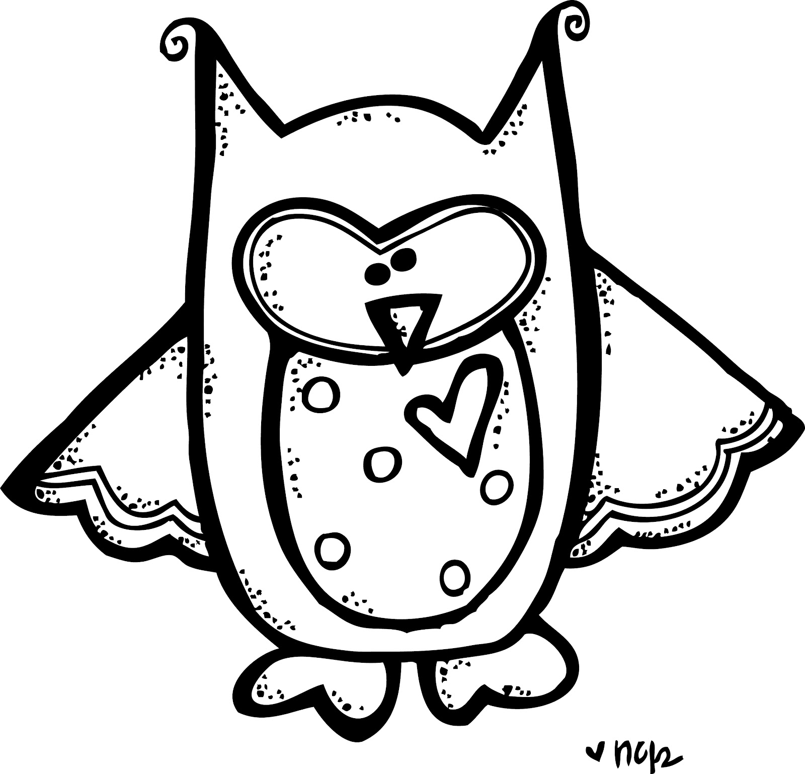 Owl Clipart Black And White