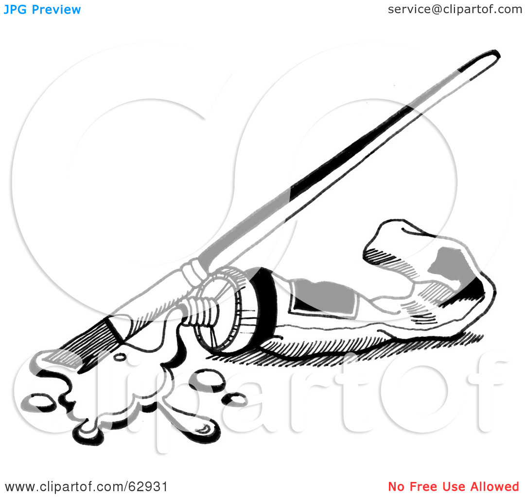 Paint Clipart Black And White