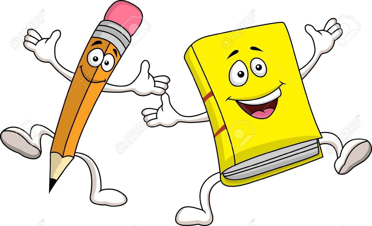 Pencil And Book Clipart   Free download on ClipArtMag (1300 x 790 Pixel)