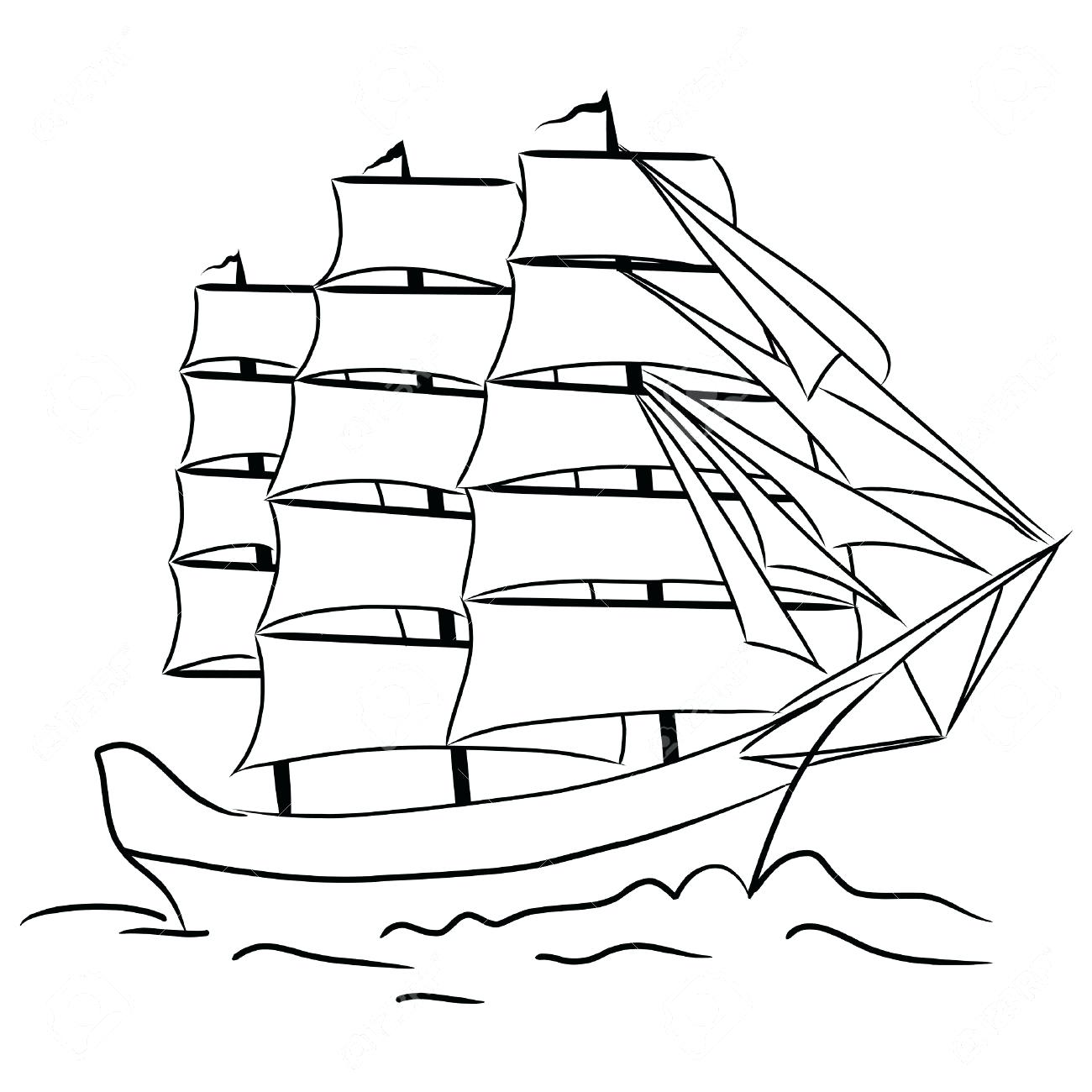 Pirate Ship Outlines