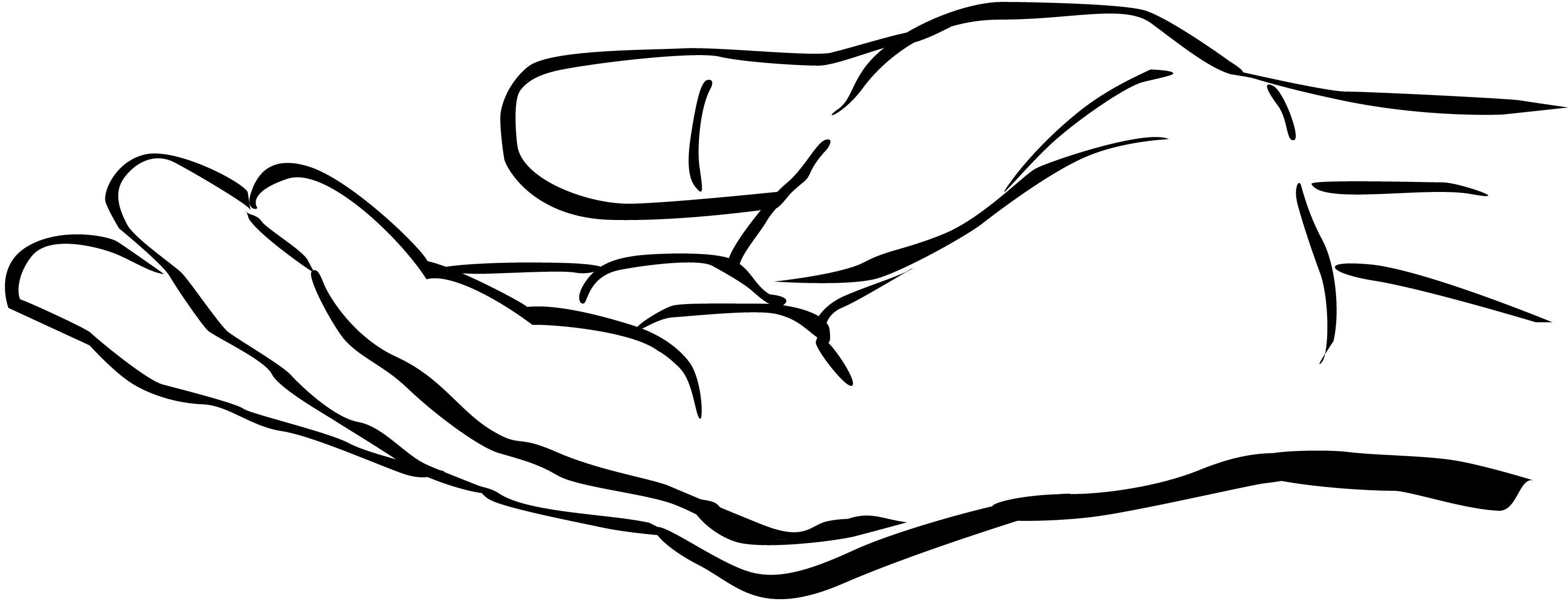 Prayer Hands Outline