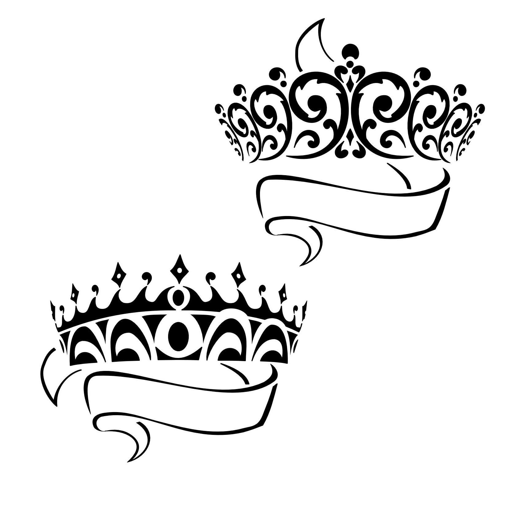 Princess Black And White Clipart