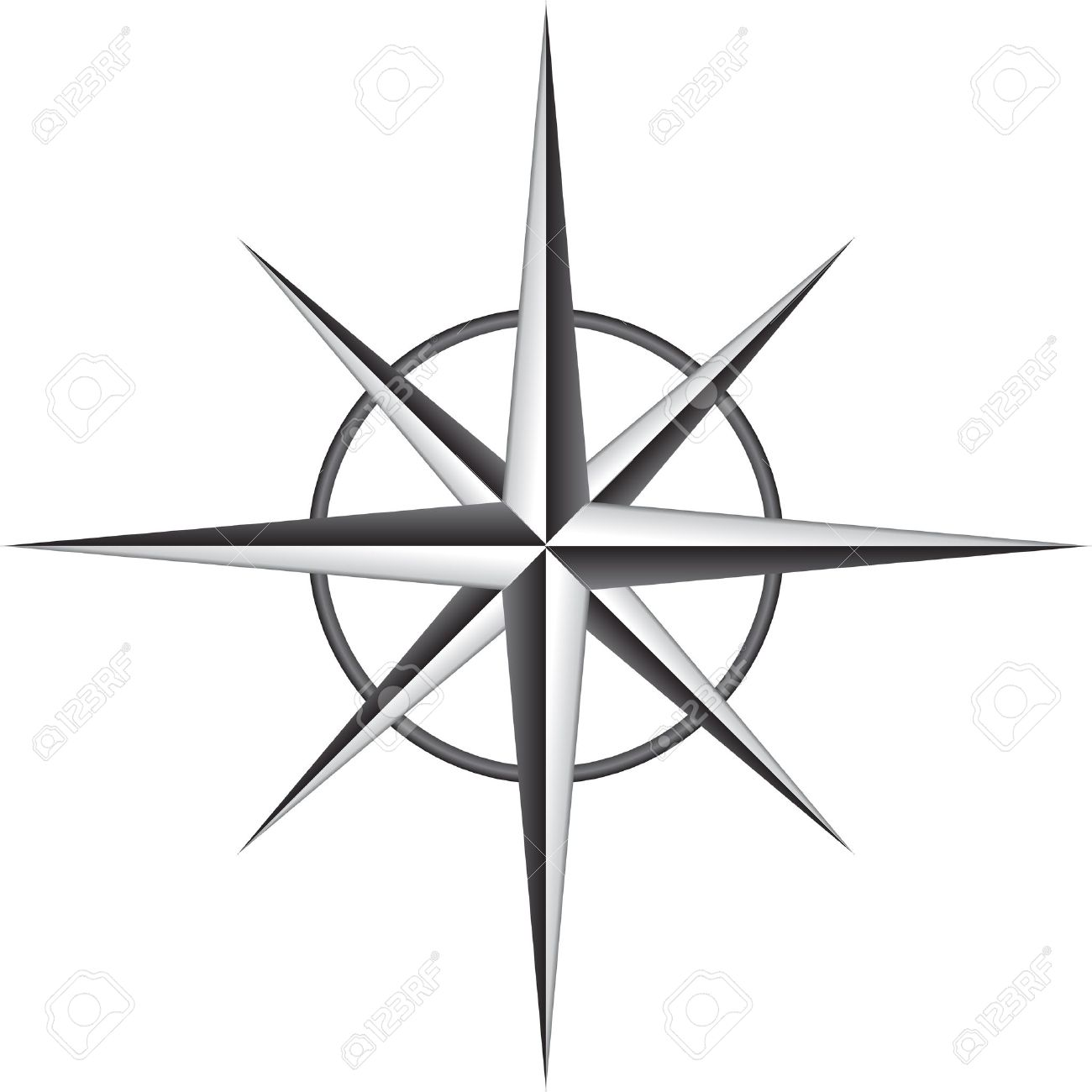 Printable Compass Rose Clipart