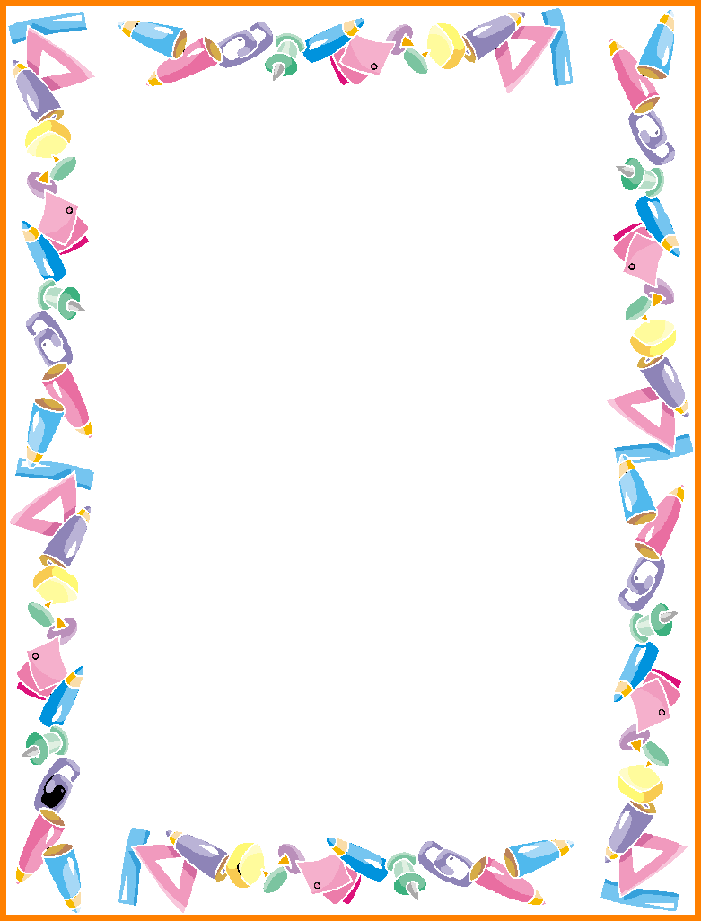graphic about Free Printable School Borders identify Lovable Borders And Frames For University