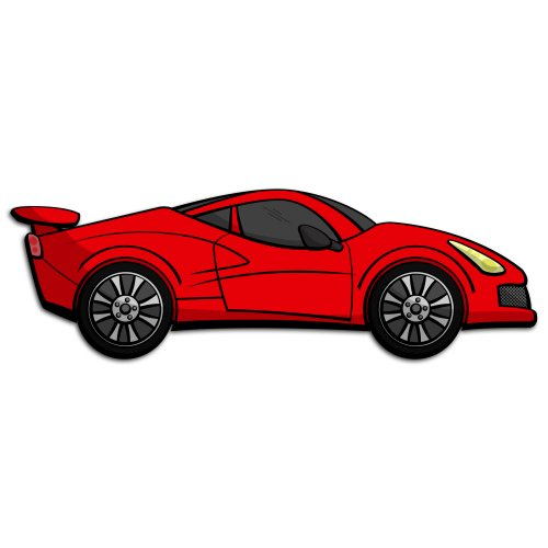 Red Sports Car Clipart | Free download on ClipArtMag (500 x 500 Pixel)