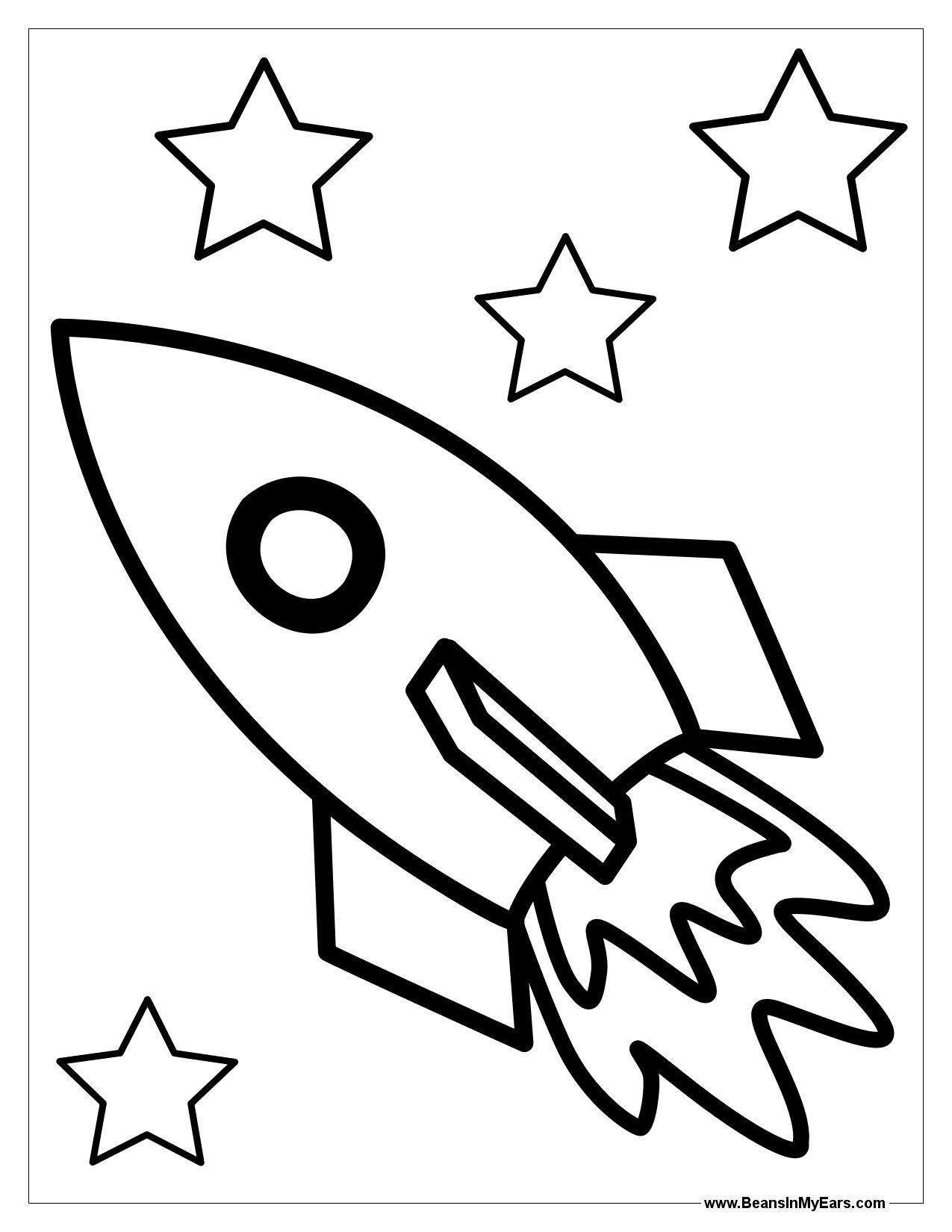 Rocket Ship Outline