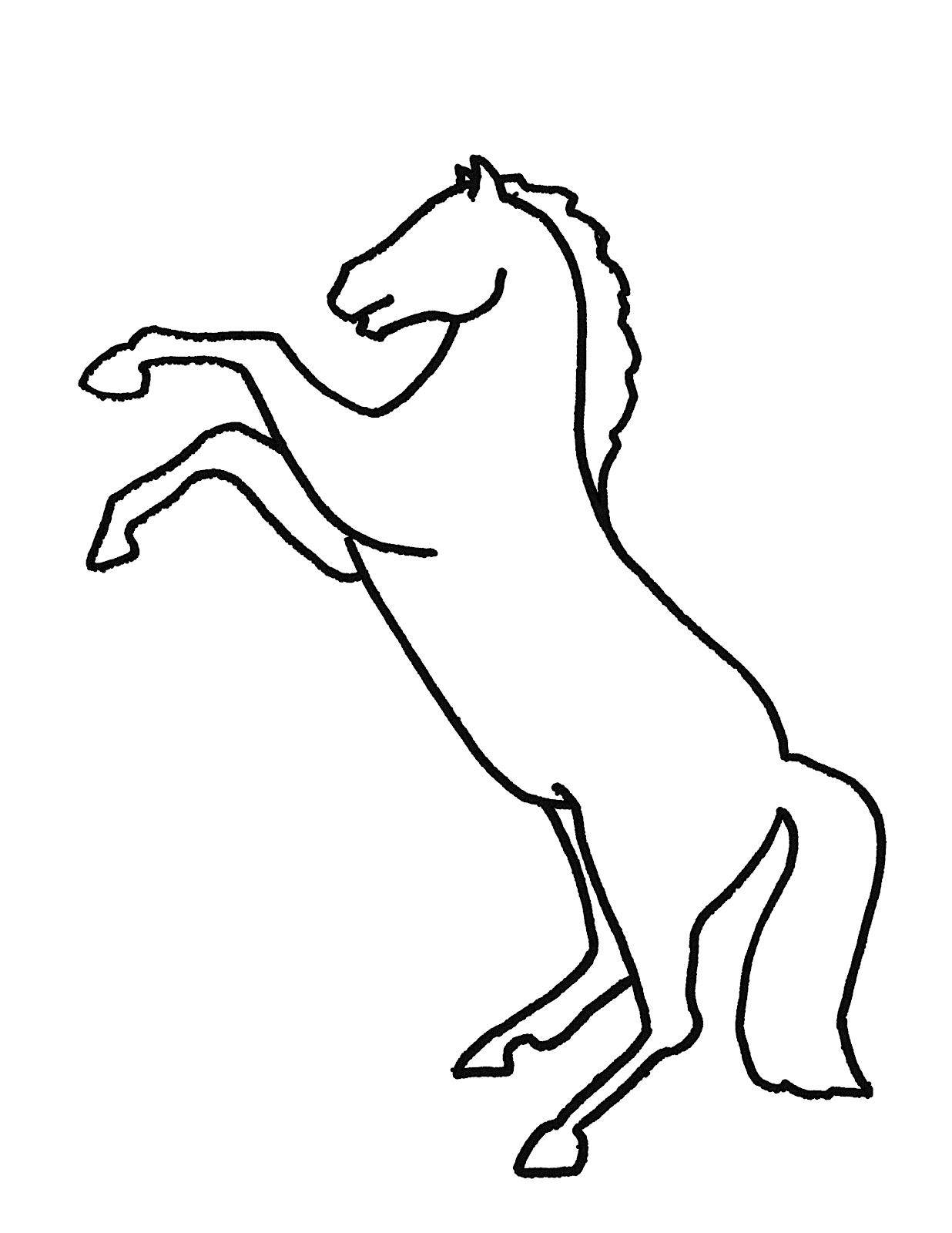 Running Horse Outline