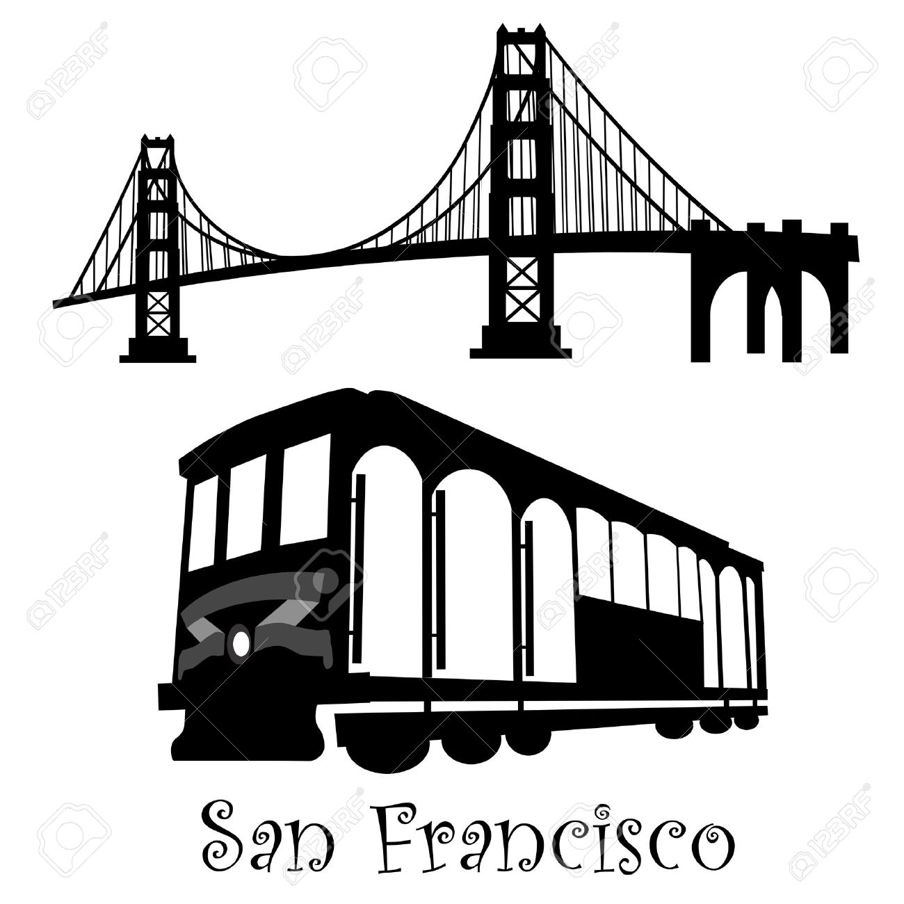 San Francisco Bridge Clipart