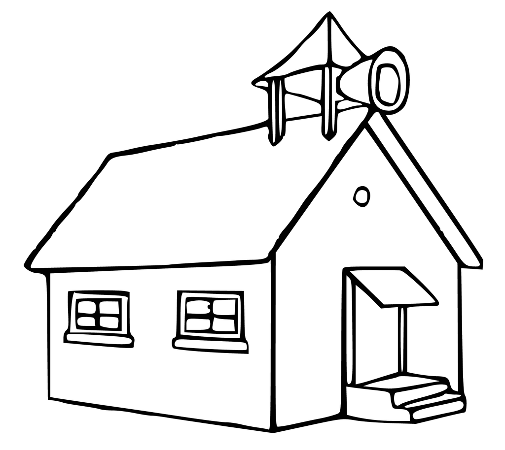 School House Clipart Black And White