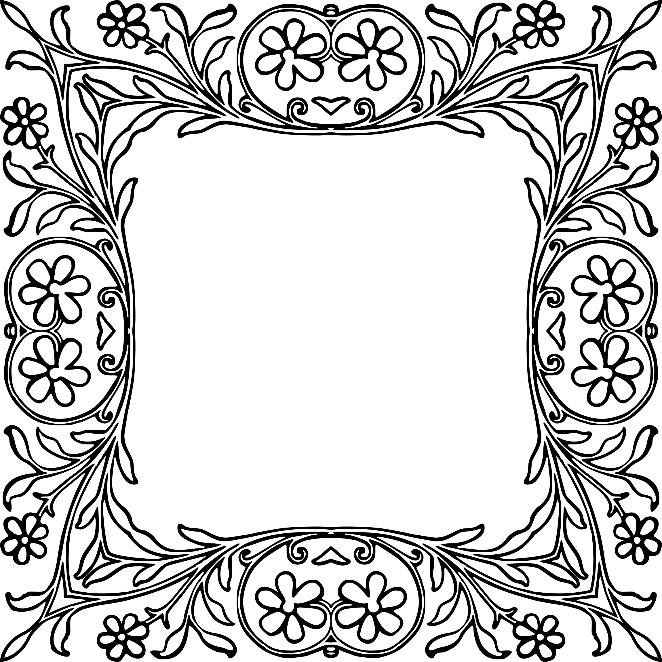 Scroll Frame Clipart