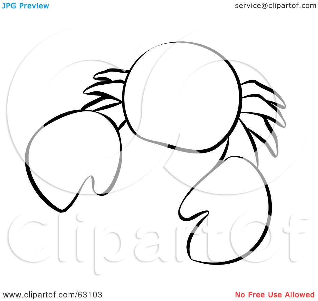 Sea Creatures Clipart Black And White