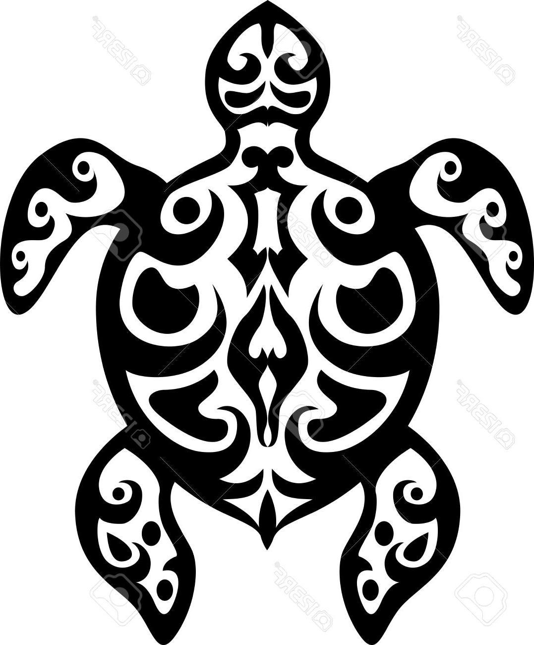 Sea Turtle Clipart Black And White
