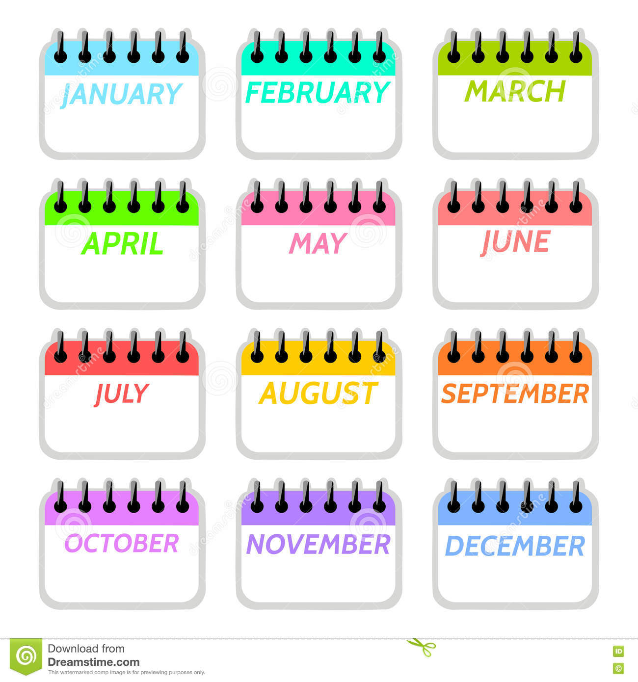 September Calendar Clipart