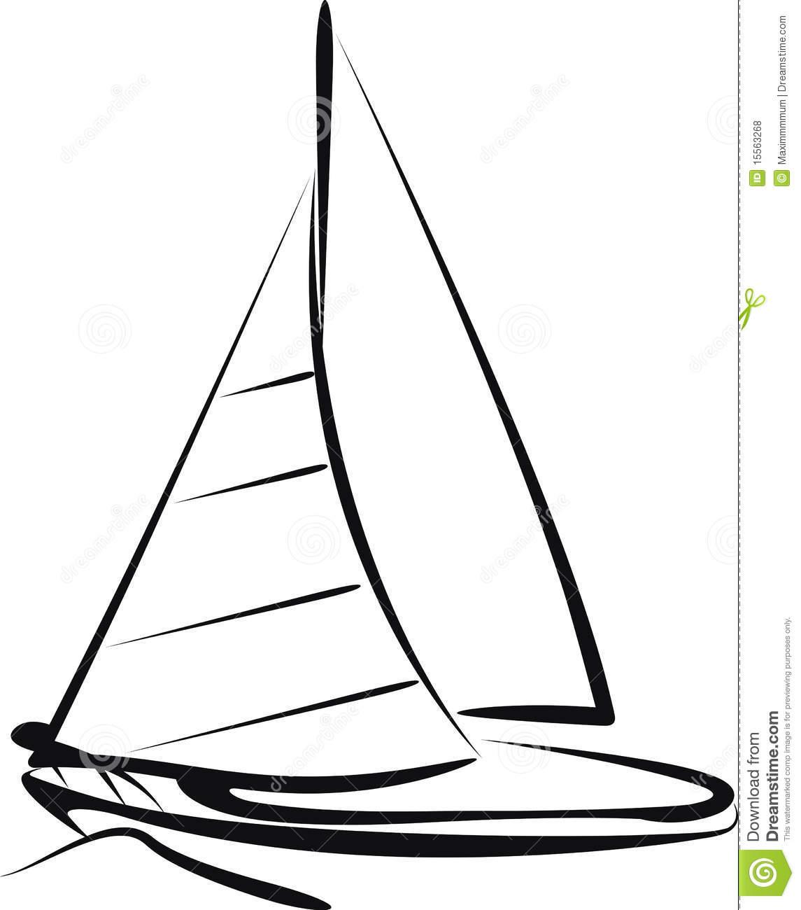 Simple Sailboat Drawing