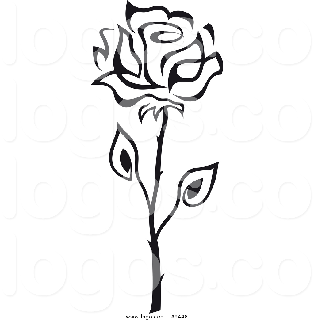 Single Rose Clipart