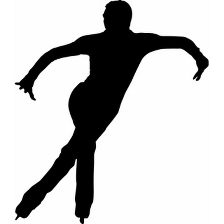 Male Ice Skater Cartoon