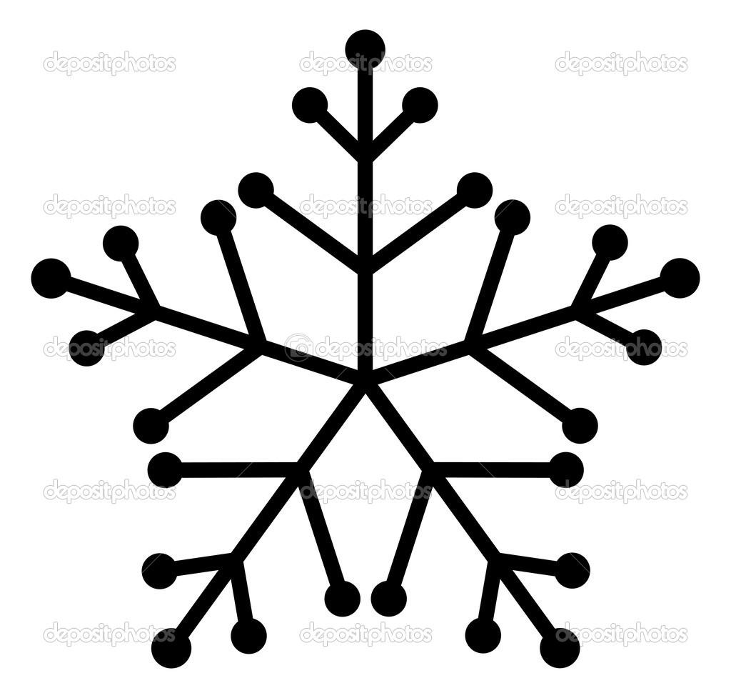 Snowflake Black And White