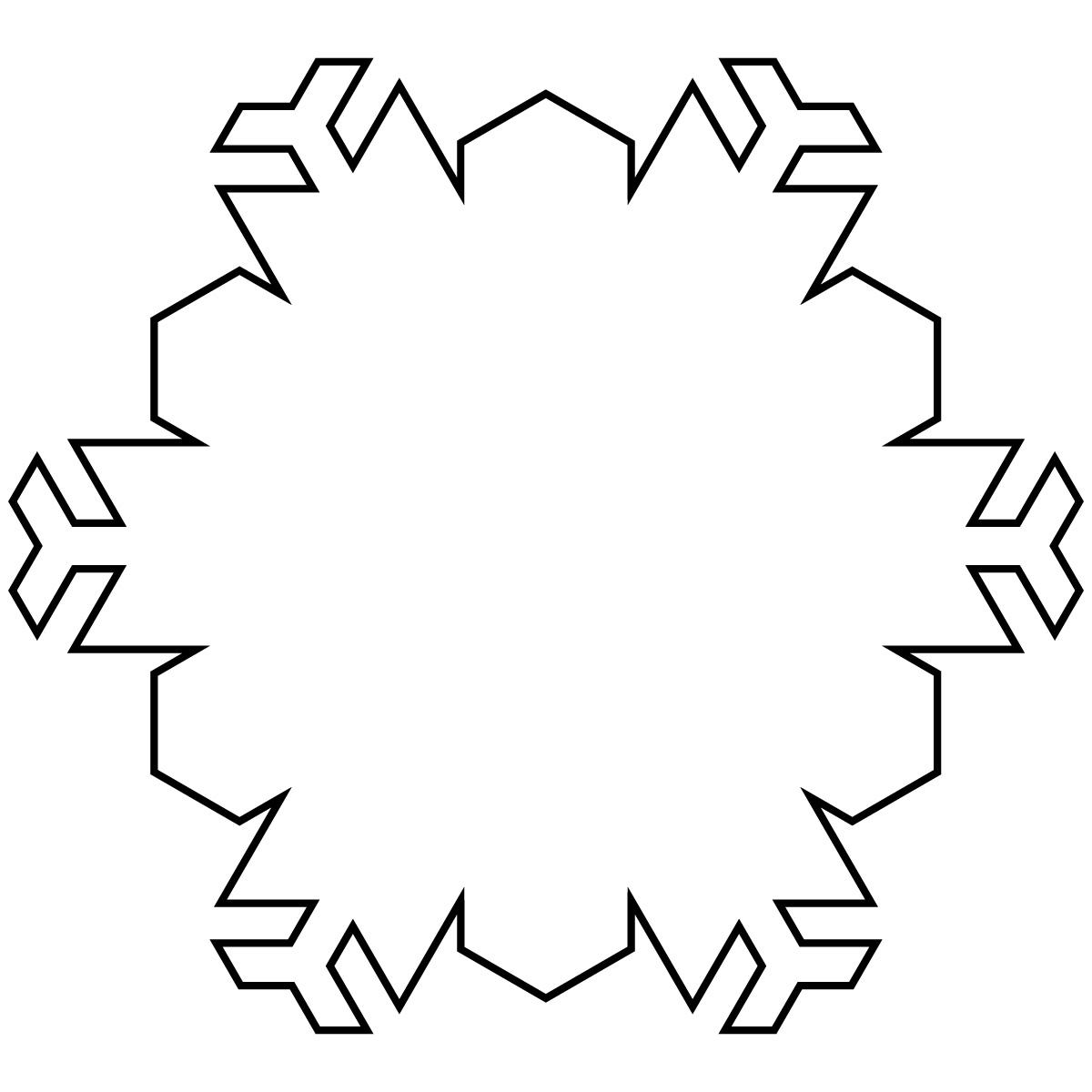 Snowflakes Black And White