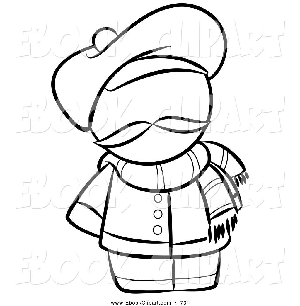 Snowman Clipart Free Black And White