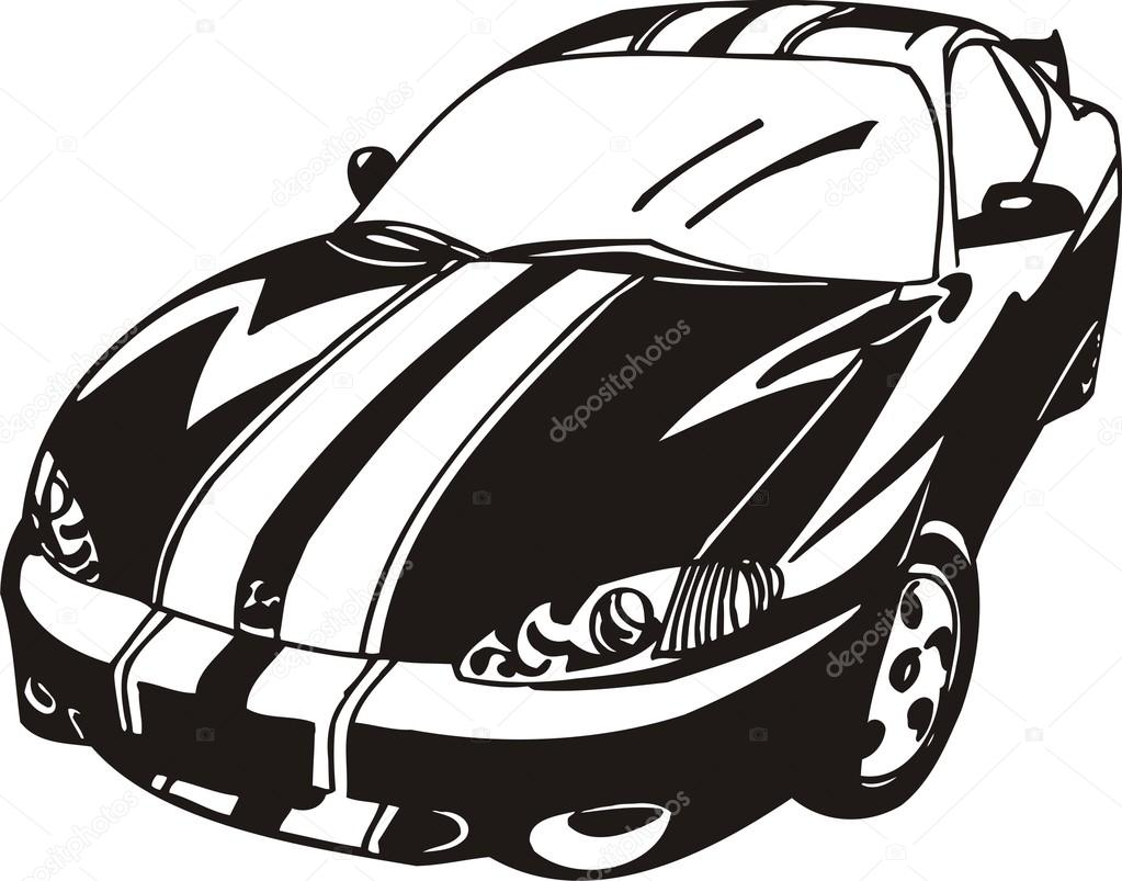Sports Car Clipart Black And White | Free download on ... (1023 x 803 Pixel)