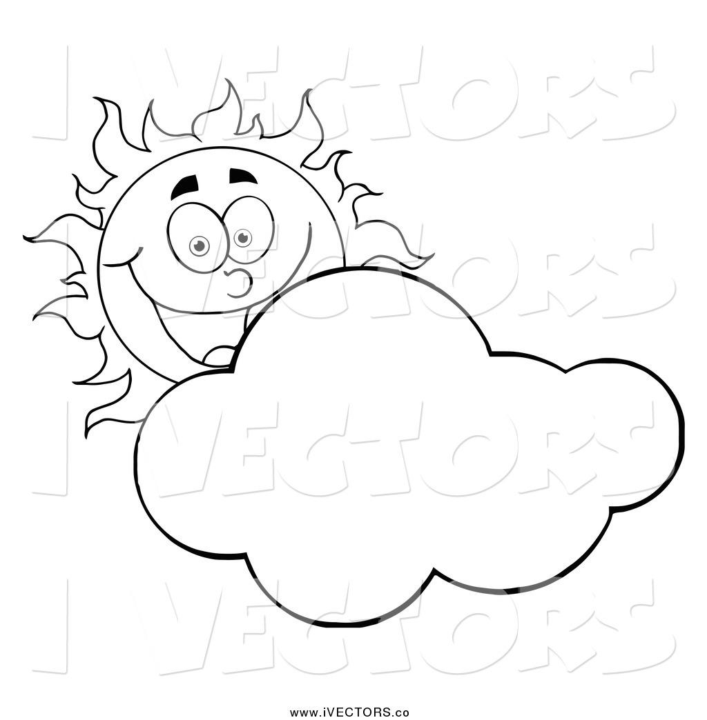 Sunny Clipart Black And White