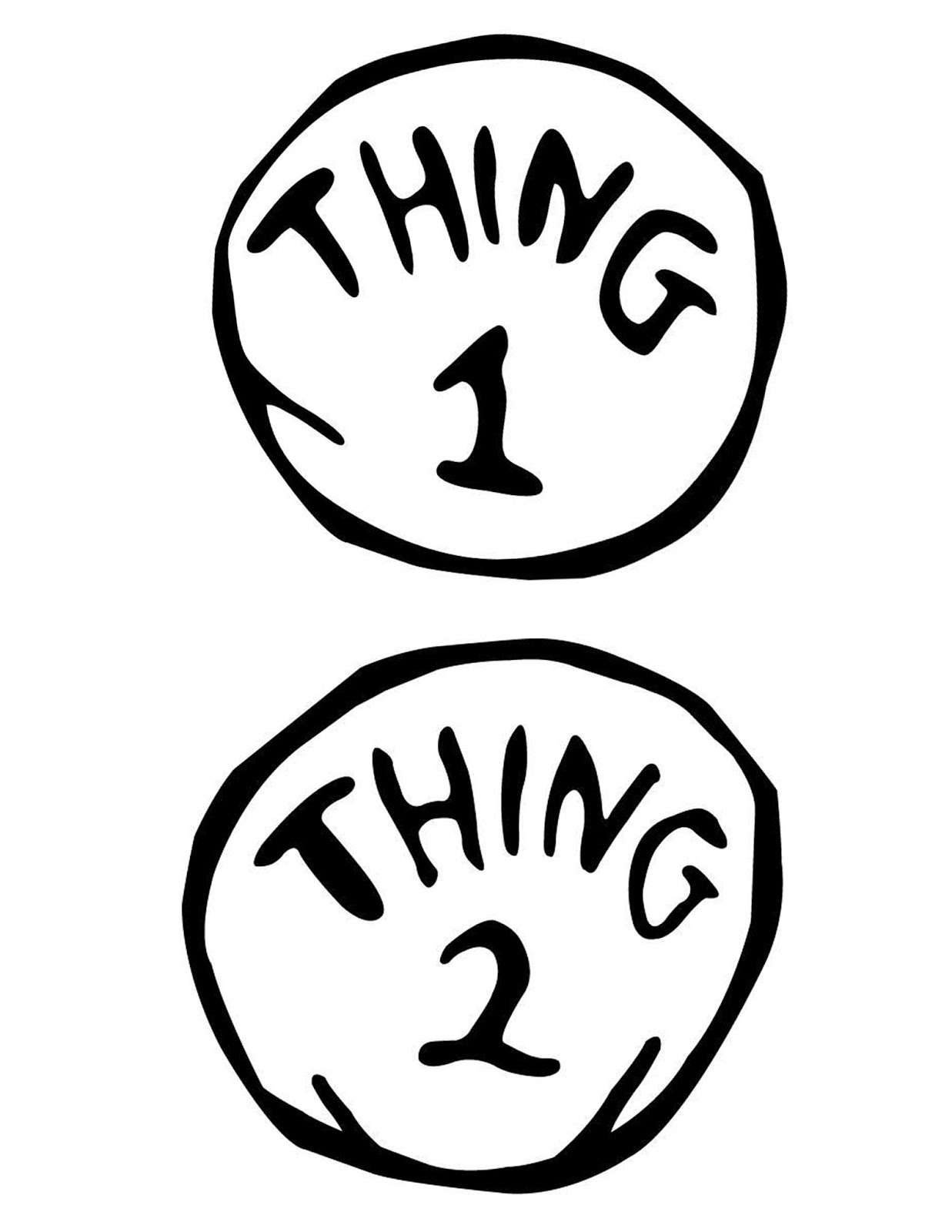 Thing 1 And Thing 2 Clipart