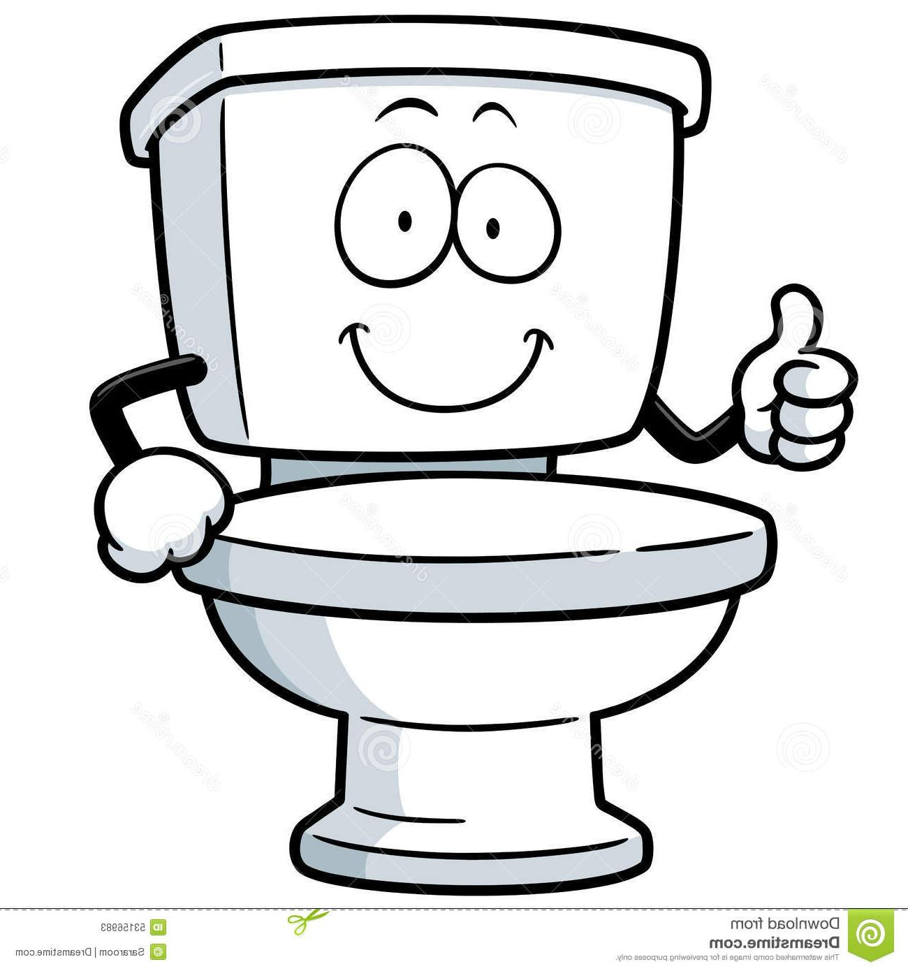 Toilet Cartoon Clipart